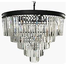 Zgear 12 Lights Luxury Modern Crystal Chandelier Pendant Ceiling Light for Dining Room, Living Room (12 Lights)
