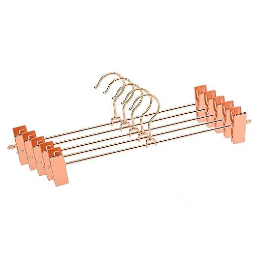 ASDZXC Hangers Rose Copper Gold Metal Heavy Duty Pants Falda Slack ...