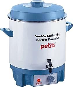 Petra EKO 610 - Olla eléctrica con grifo para preparar vino caliente, color blanco y azul
