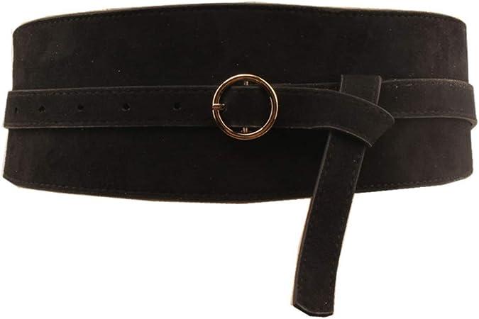 Femme Fashion Gold large ceinture élastique Stretch Robe Ceinture Boucle Band