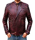 BlingSoul Star Lord Leather Jacket Mens - Chris Pratt Biker Jacket Costume, XL