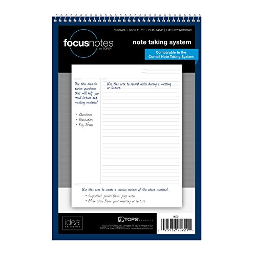 Tops FocusNotes Writing Cornell 90221 product image