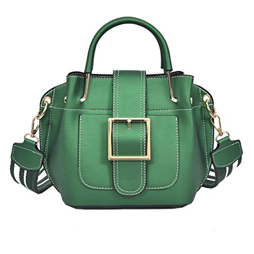 Besde Women Leather Shoulder Bag Women Crossbody Handbag Bag Messenger Bag Purse Satchel (Green, LT-2275) by Besde