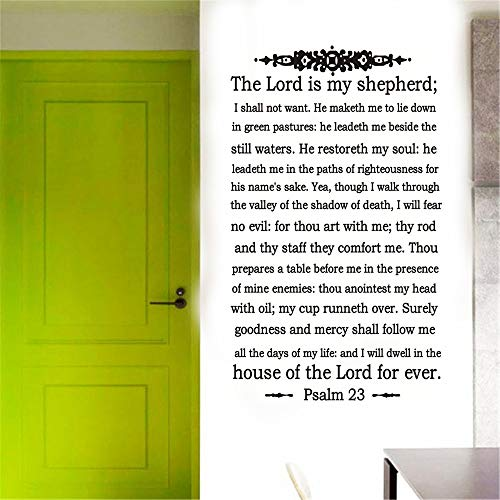 (YttBuy Vinyl Stickers Wall Home Decor Wall Decor Art Sticker Home Decals The Lord is My Shepherd Wall Decal  Psalm 23 Wall Decals Stickers Quote   Easy Application (Psalm 23))