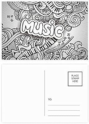 DIYthinker Violín música rock Winding pintura postal ...