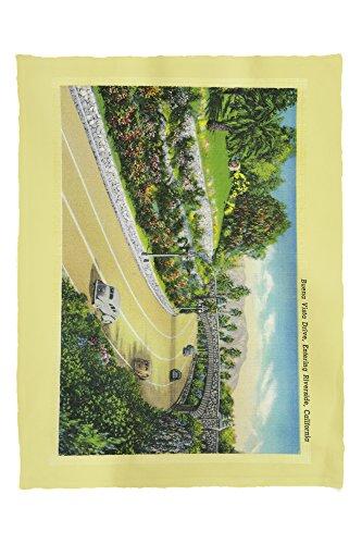 Buena Vista Drive, Entering Riverside (60x80 Poly Fleece Thick Plush Blanket) (Drive Buena Vista)