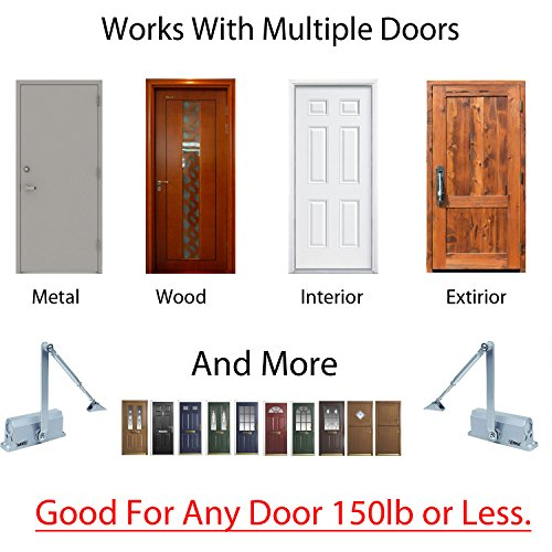 BEST SELLER Automatic Door Closer With Hydraulic Hinge - Slowly Closes and Shuts Door - Great Self Closing Door For Residential/Commercial Use by PTI (Image #2)