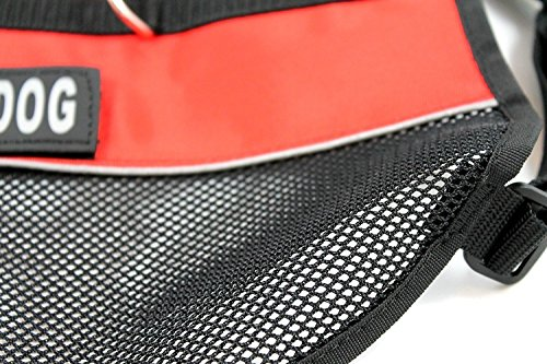"""Prettypets Lightweight Service Dog Vest Cool Red Mesh Harness with 2 Free Removable''SERVICE DOG'' and 2 """"EMOTIONAL SUPPORT"""" Patches (XL;Girth:25-29'') by Pretty Pets (Image #7)"""