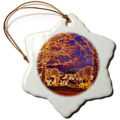 Ditooms Christmas, Opryland Hotel, Nashville, Tennessee Usa-Us43 Bjn0047-Brian Jannsen-Snowflake Ornament, 3-Inch, Porcelain (Christmas Hotel Opryland)
