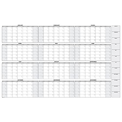 Good Large Oversized Yearly Wall Calendar 38 X 58 Dry Erase