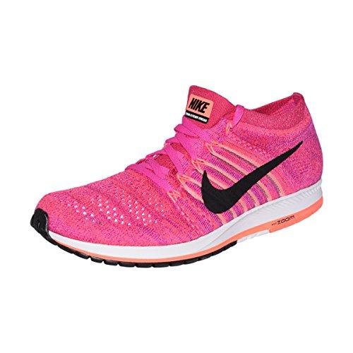 Racing Shoes Racer (NIKE Flyknit Streak Unisex Running Shoe (Fireberry/Black-Racer Pink, 11 D(M) US/12.5 B(M) US))