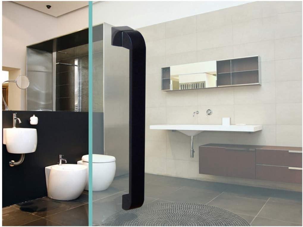Sliding Door Handle 1 Pack Matte Black Paint 304 Stainless Steel Home Hotel Bathroom Shower Room Glass Door Push-Pull Handle