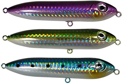Catfish Rattling Line Float for Catfishing and Striper Fishing, Peg Float for Santee Rig, 4 Inch Demon Dragon (3-Pack, Green, Blue, Purple) ()