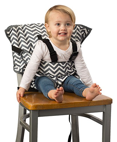 Cozy Cover Easy Seat – Portable Travel High Chair and Safety Seat for Infants and Toddlers (Chevron)