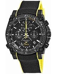 Bulova Men's Quartz Stainless Steel and Rubber Sport Watch, Color:Black (Model: 98B312)