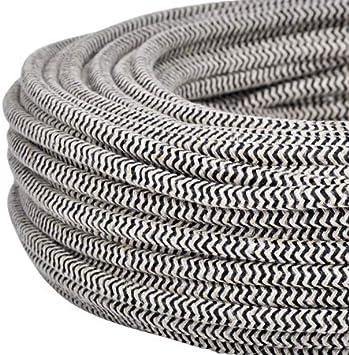 Couleur sable//noir Section 3/x 0.75 C/âble /électrique rond//rond avec rev/êtement en tissu