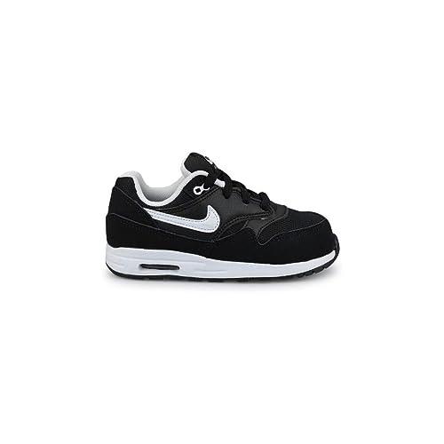 Nike Air MAX 1 (TD), Zapatos de recién Nacido para Bebés, Negro
