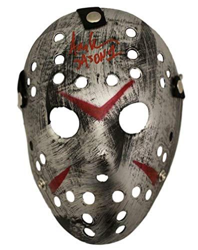 Ari Lehman Autographed Friday The 13th Replica Silver Mask Jason BAS from DenverAutographs