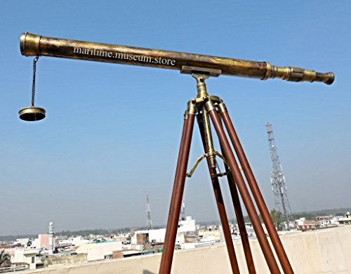 40'' superb power coated optics and clarity Brass Stand Telescope/Brass Spyglass. - Times Fedex Uk Delivery