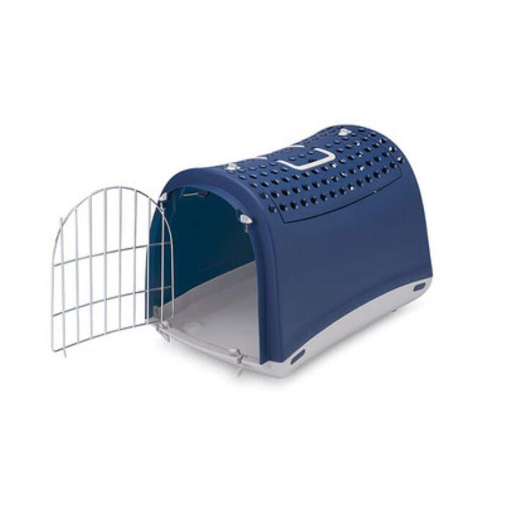 bluee 50x32x35cm bluee 50x32x35cm MIAOLIDP Pet Air Box Dog Cat Outing Cage Consignment Skylight Portable Space Cat Bag Cat Cage Pet cat carrier (color   bluee, Size   50x32x35cm)