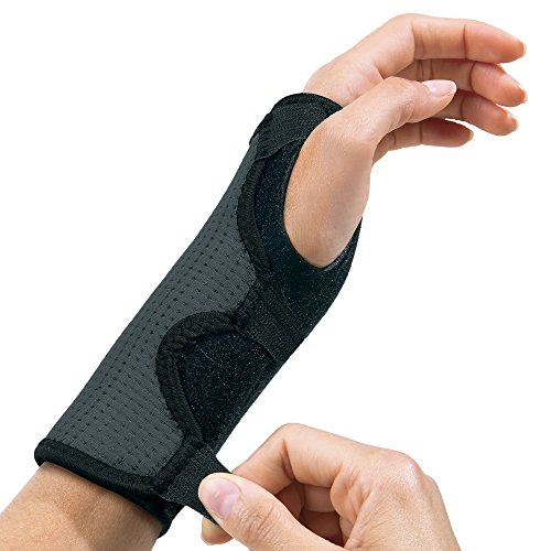 Futuro Reversible Splint Wrist Brace, Provides Support for Sore Wrists, Moderate Stabilizing Support, Adjustable, Black and Gray by Futuro