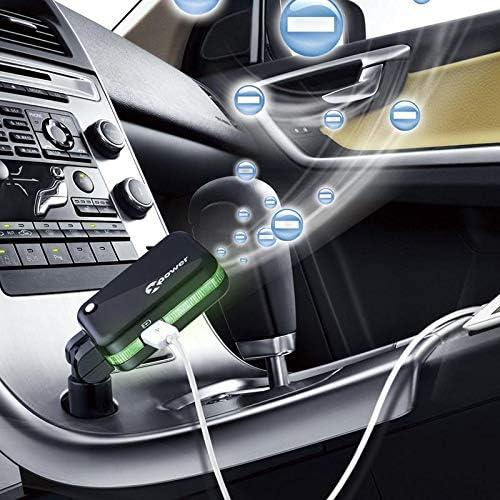 adaptador de cargador de coche USB dual Purificador de aire de coche Bacterias Eliminador de malos olores Plegable de 90 grados Qiilu Purificador de cargador de coche