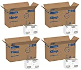 Kleenex Multifold Paper Towels (01890), White, Case of 64 Packs fdVsMO, 150 Tri Fold Paper Towels per Pack