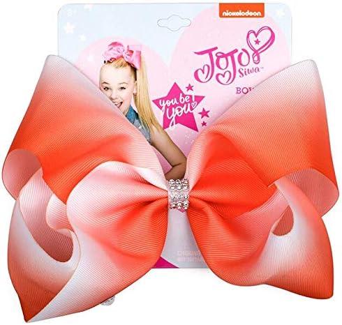 JoJo Siwa Kids Girl Hair Bow Clip Rhinestone Ribbon Bowknot Headwear Solid New