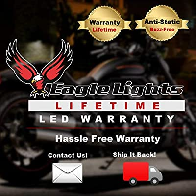 Eagle Lights 5.75 inch LED Projection Headlight for Harley Sportster, Indian Scout. Plug and Play (Black): Automotive