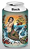 Old School Tattoo Cozy, Captain, Boaters gifts, Stocking Stuffers, Tiki Bar Accessories, Beer Related Gifts
