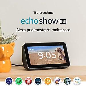 Ti presentiamo Echo Show 5 – Schermo compatto e intelligente con Alexa, Nero