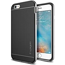 Spigen Neo Hybrid iPhone 6S Case with Flexible Inner Protection and Reinforced Hard Bumper Frame for iPhone 6S 2015 - Satin Silver