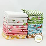 Riley Blake Sew Cherry Fat Quarter Bundle (27 pcs) by Lori Holt for 18 x 21 inches (45.72cm x 53.34cm) fabric cuts DIY quilt fabric