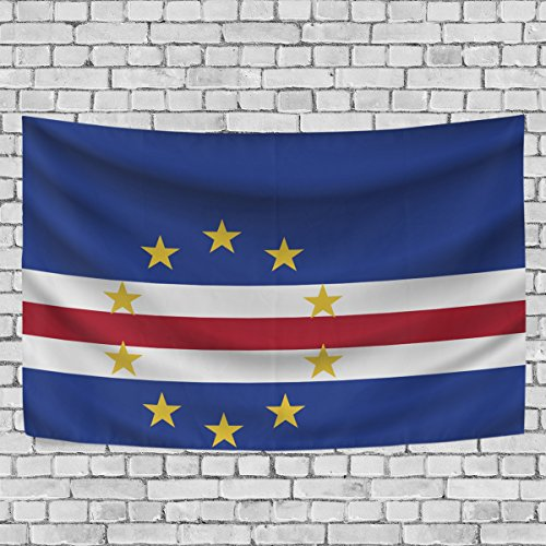 - super3Dprinted Cape Verde Flag Tapestry, Wall Hanging Art Home Decoration for Bedroom Living Kids Girls Boys Room Dorm Accessories, 60X40 Inches