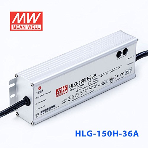 Meanwell HLG-150H-36A Power Supply - 150W 36V 4.2A - IP65 - Adjustable Output