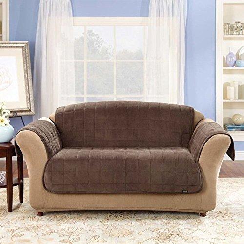 SureFit  Deluxe Pet Sofa Furniture Cover, Chocolate ()