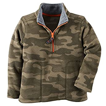 Amazon.com: Carter's Half-Zip Fleece Pullover Green Camo Baby ...