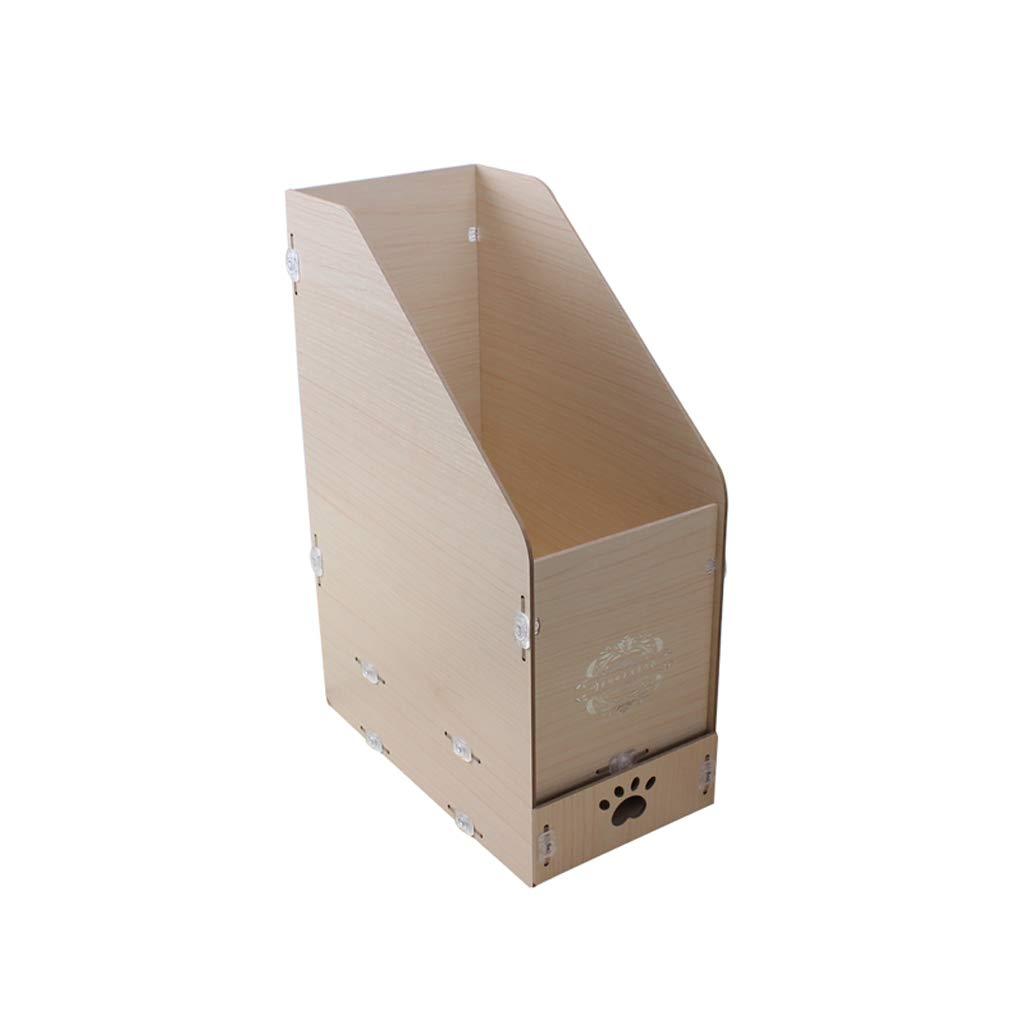 LCSHAN Desktop File Cabinet Creative Desk Surface Wooden Multi-Layer Document Data Cabinet Multi-Function (Color : White) by File Shelf