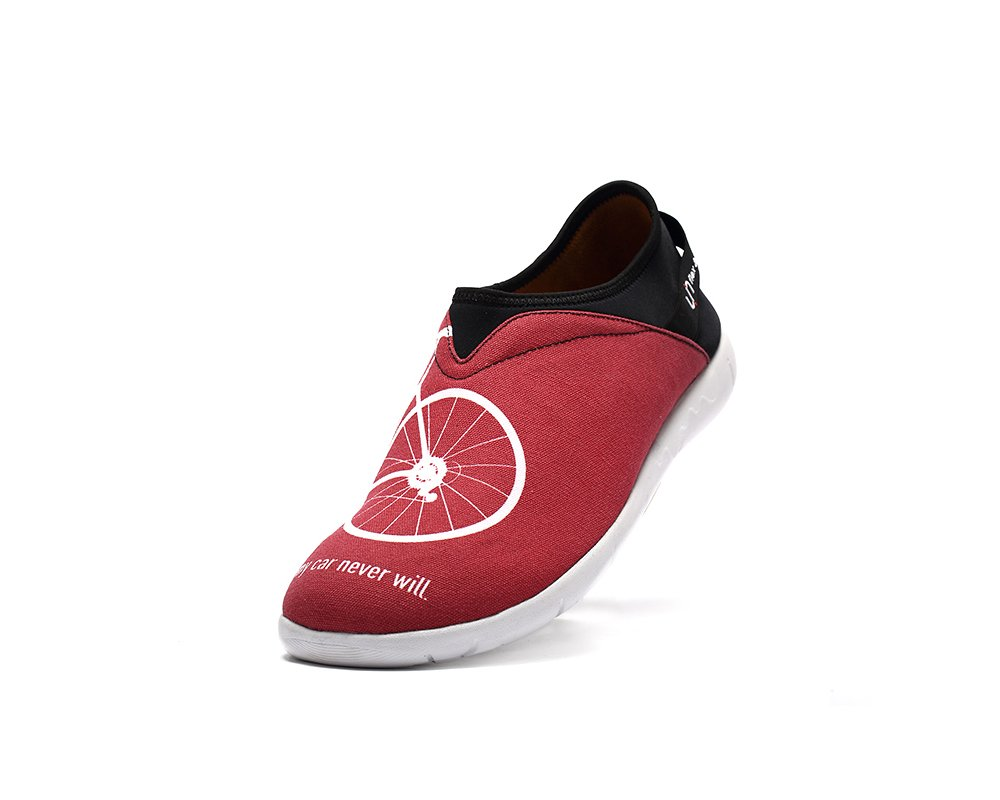UIN Men's Take A Bike Canvas Travel Casual Shoe Red (8)