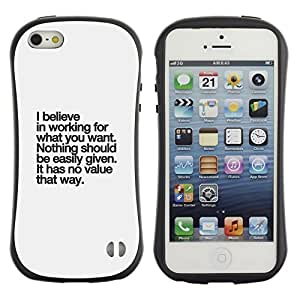 LASTONE PHONE CASE / Suave Silicona Caso Carcasa de Caucho Funda para Apple Iphone 5 / 5S / believe value inspirational text inspiring