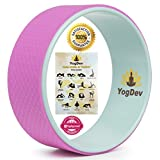 """Yoga Wheel by YogDev – Premium 12"""" Roller Designed for Dharma Yoga Wheel Pose. For Stretching and Increased Flexibility. Targets Spine, Shoulders, Hips, Abdomen and Chest!"""