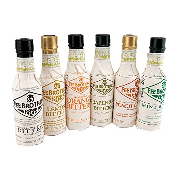 Fee Brothers Bar Cocktail Bitters - Set of 6 1 Made by Fee Brothers of Rochester, New York. Includes 6 hand selected bottles. Peach and West Indian Orange Bitters.