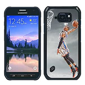 Abstract Custom Samsung S6 Active Case,OKC Thunder Russell Westbrook Black Cool Design Samsung Galaxy S6 Active Phone Case
