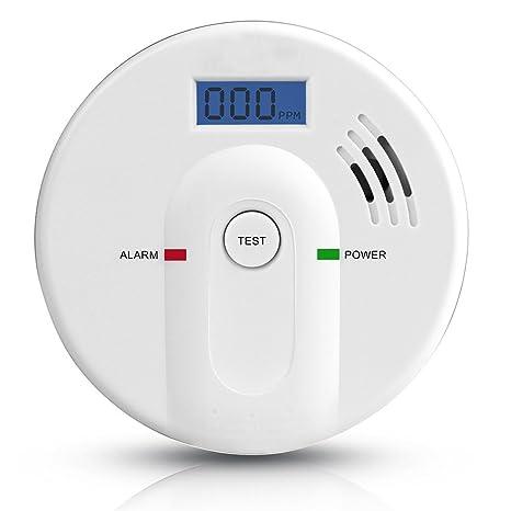 SIX Foxes Co monóxido de carbono Detector de monóxido de carbono de alarma detector Carbon Monoxide