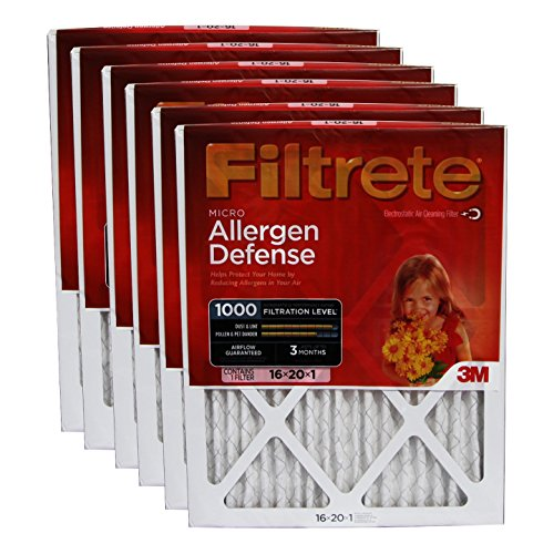 3M Filtrete 9800Dc-6 Micro Allergen Reduction Filters (6 Pack) (9800DC-6)