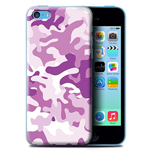 Coque de Stuff4 / Coque pour Apple iPhone 5C / Rose 1 Design / Armée/Marine militaire/Camouflage Collection
