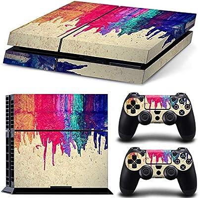 Pintado Consola Sony Playstation 4 Pintada y 2 Accesorios de ...