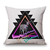 alphadecor geometric throw cushion covers 16 x 16 inches / 40 by 40 cm best choice for dance room,couch,kids girls,dance room,couples with twin sides