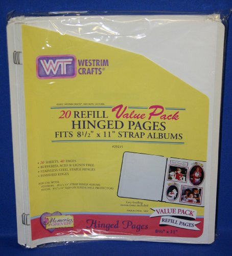 WESTRIM CRAFTS 20 REFILL VALUE PACK HINGED PAGES, FITS 8 1/2