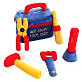 SHILOH Baby Rattle Set Fill and Spill Kid Pretend Play Bag Newborn Gift (Tool kit bag)
